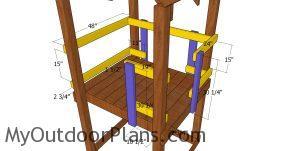 Rails for short tower
