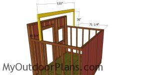 Ridge beam - 8x10 saltbox shed