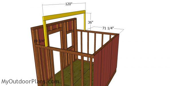 Ridge beam - 8x10 saltbox shed