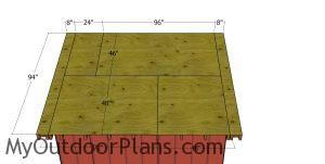 Roof sheets - saltbox shed 8x10