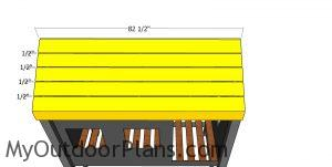 Roof slats - cabin bed