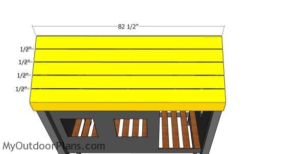 Roof slats - cabin bed