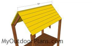 Roof slats - tall tower