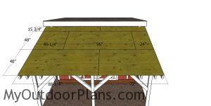 Roofing sheets - lean to onto shed