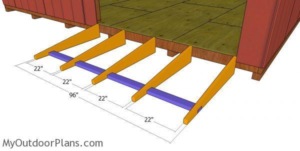 Shed ramp frame