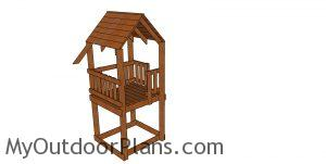 Short tower - outdoor playhouse