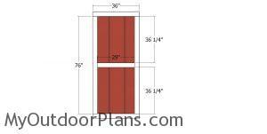 Side door - 20x20 shed