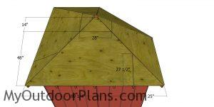 Side roof sheets - corner shed