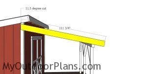 Side roof trim