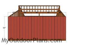 Side siding sheets - 20x20 shed