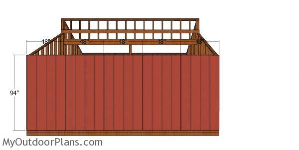 Side siding sheets - 20x20 shed