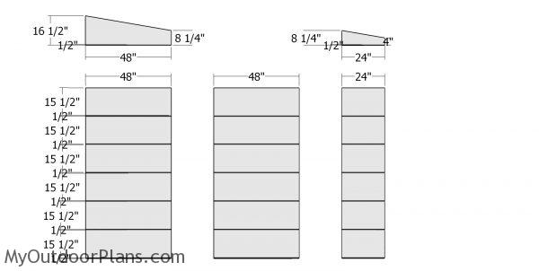 Side wall panels - 10x20 modern shed