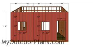 Tall side wall siding sheets