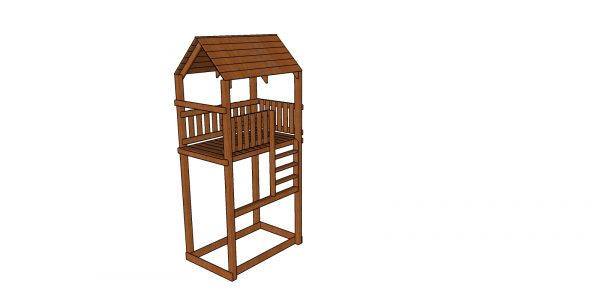 Tall tower for outdoor playset