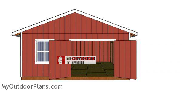 20x24-gable-shed-plans---front-view