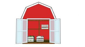 2×4 Barn Shaped Vegetable Display – Free DIY Plans