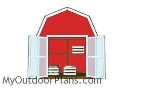 2x4 Barn Shed for Vegetables Display