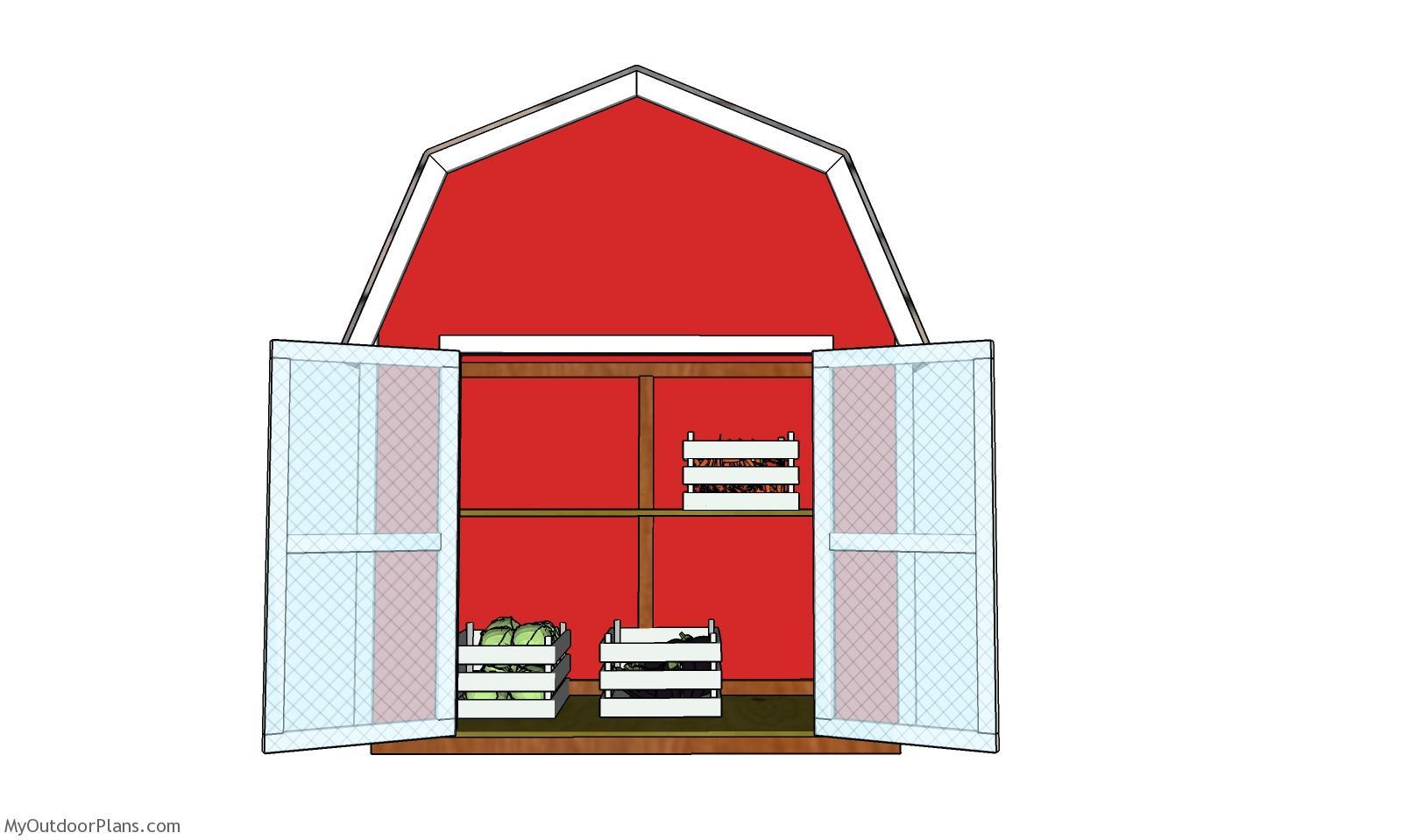2x4 Barn Shaped Vegetable Display - Free DIY Plans