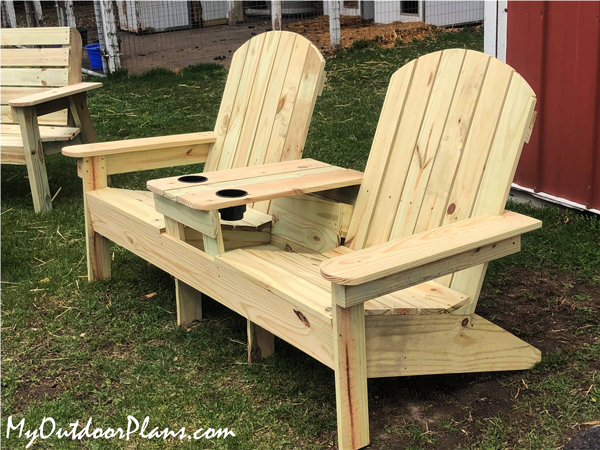 DIY Project - Double Adirondack Chair Bench