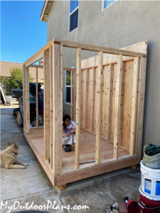 Assembling-the-frame-of-the-shed