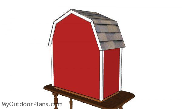 Barn Shaped Vegetable Display - back view