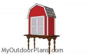 Barn shaped produce box plans