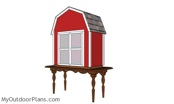 Barn shaped produce box plans