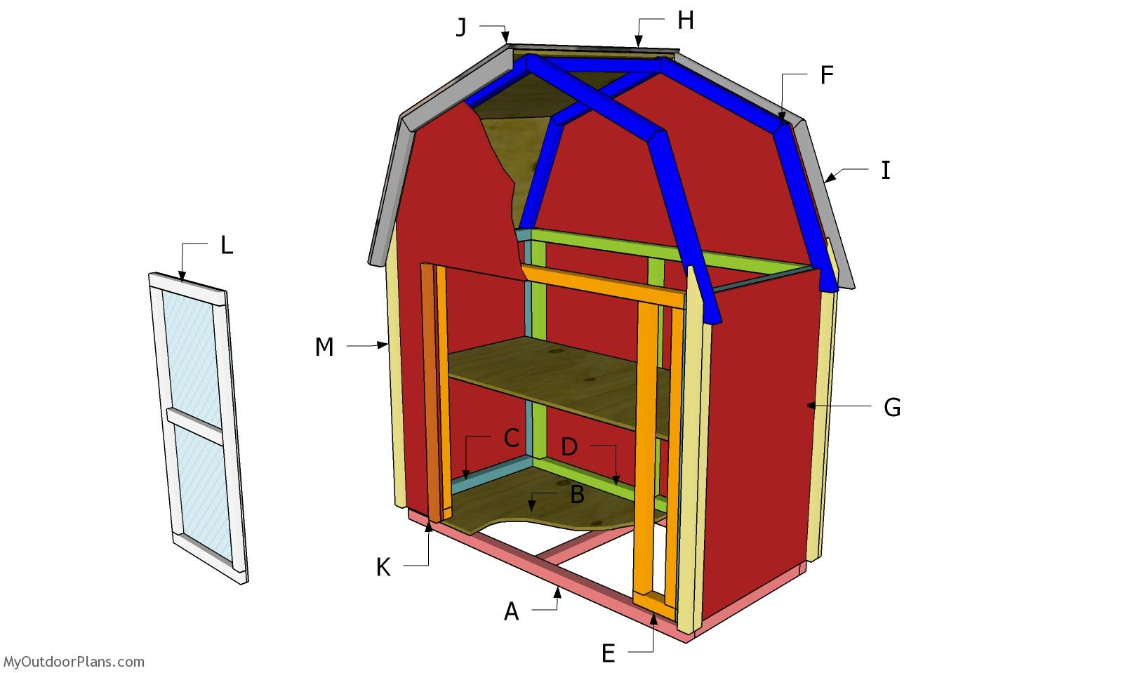 2x4 Barn Display Case Plans - Part 2