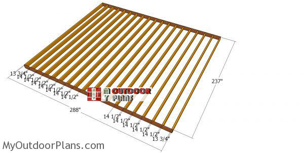 Building-the-floor-frame---20x24-shed