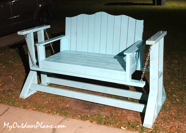 DIY Wood Glider Swing Bench