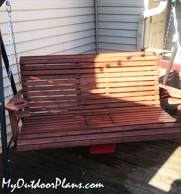 DIY Swing Bench with Cooler