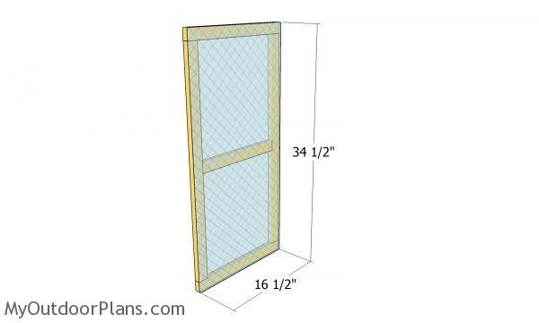 Door glass panel