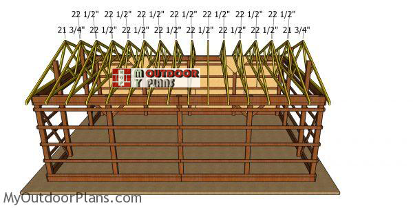 Fitting-the-trusses-to-20x30-pole-barn