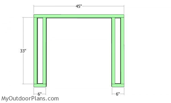 Front wall frame - 2x4 barn shed