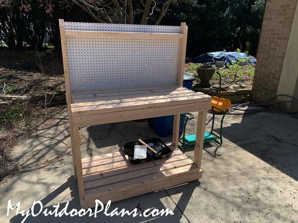 DIY Project - 2x4 Potting Bench