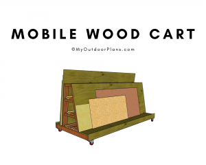 Mobile wood cart
