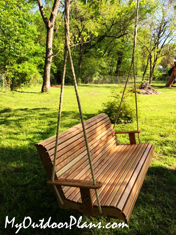 Red-Oak-Swing-Bench