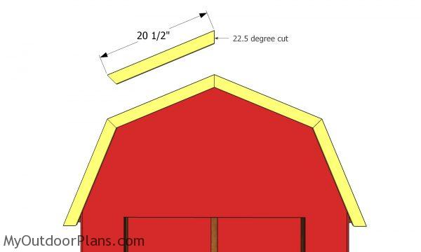 Trims for gambrel roof
