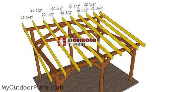 fitting-the-rafters-to-the-lean-to-pavilion-12x16