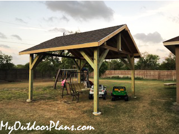 DIY 14x14 Wood Pavilion