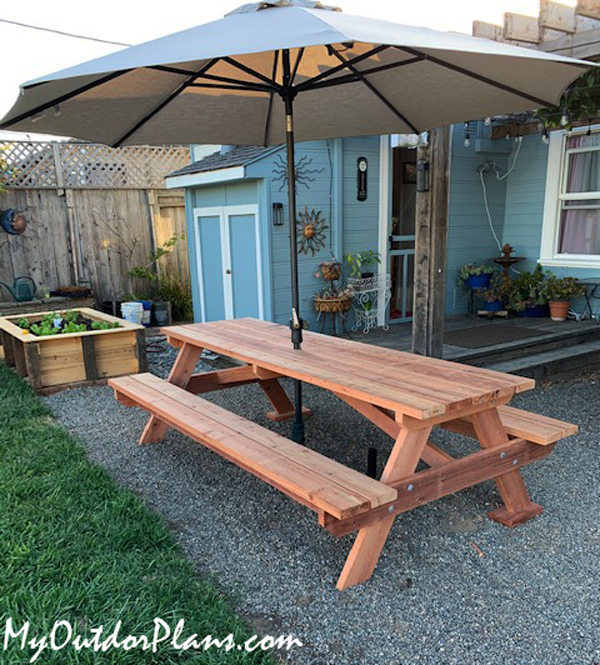 DIY 8 ft Picnic Table with Benches