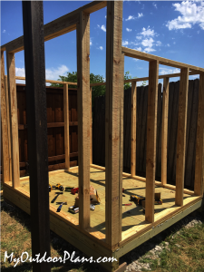 Assembling-the-frame-of-the-6x8-shed