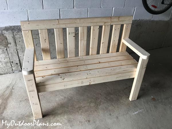 DIY Outdoor Porch Bench