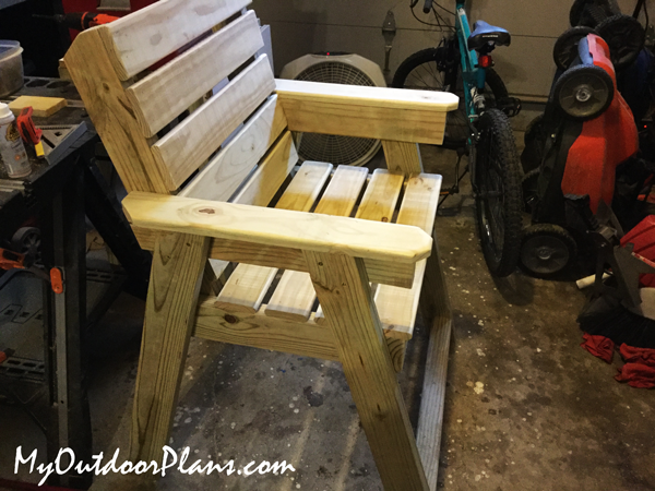 DIY Wooden Garden Chair