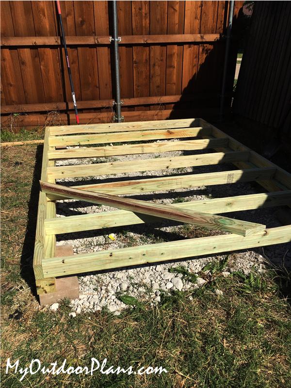 Building-shed-floor-frame