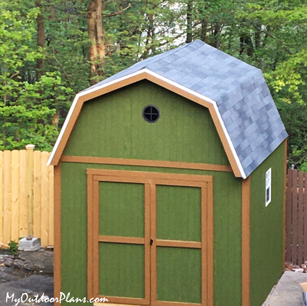 DIY 10x10 Gambrel Shed with Loft