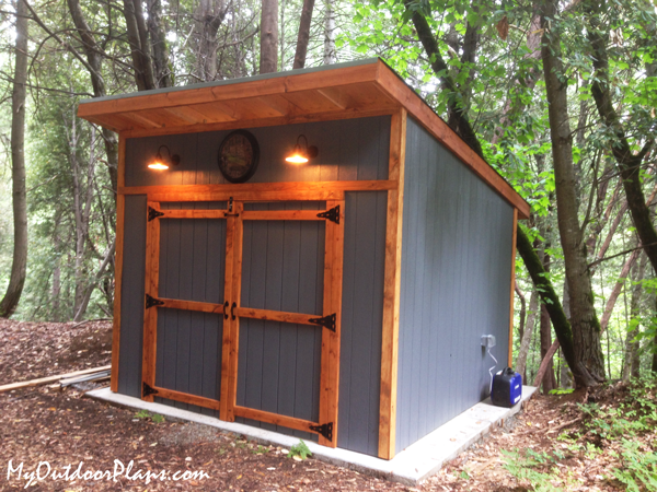 DIY 12x12 Lean to Shed