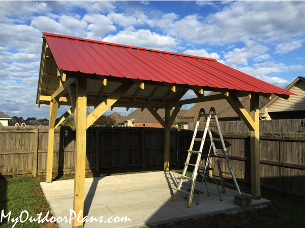 DIY 14x14 Gable Pavilion
