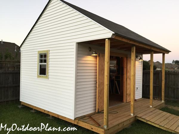 DIY 16x16 Workshop with Porch