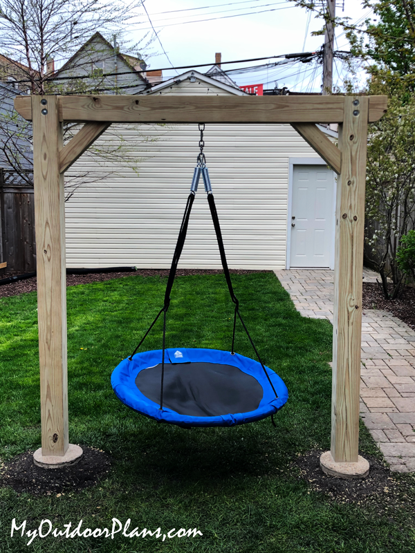 Swing Pergola with 6x6 Posts - DIY Project